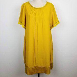 Maeve Anthropologie Pleated Front Verdet Dress